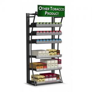 China Steel Frame Cigarette Display Cabinet Overhead Cigarette Dispenser For Smoke Shop on sale