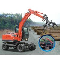 Quality Wood Grasping Wheel Excavator for sale