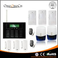 China Black GSM LCD touch screen Wireless Security Alarm System with APP for house on sale