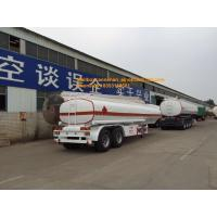 China 2axles oil fuel tank trailer with 2fuwa axles and Q345carbon steel material on sale