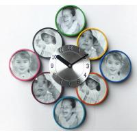 Quality New Arrival for Colorful Metal Picture Frame with Quartz Wall Clock for sale