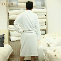 Quality 100% Cotton White Hotel Terry Cloth Bathrobe With 125cm Weight 1000g for sale