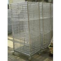 Quality Zinc Plated Mobility Chrome Wire Security Carts / Tools Storage Logistics Trolley for sale