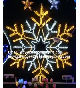 Quality led big snowflake light for sale