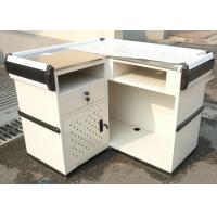 Quality Supermarket Stainless Steel Cashier Counter Desk for sale