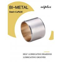 China Copper Biemtal Sleeve Bushes Steel+CuPb30 with Lubricating Grooves 700 on sale