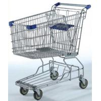 Quality Large Capacity Grocery Shopping Carts , 180L Wire 4 Wheeled Shopping Trolley for sale