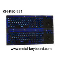 Buy cheap Illuminant waterproof SS Industrial Metal Keyboard with Trackball  pointing device from wholesalers