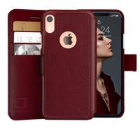 China Mens IPhone XR Wallet Case with Ultra Strong Magnetic Closure Durable Slim on sale