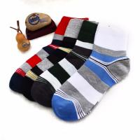 China Wholesale OEM striped cotton leisure socks for men on sale