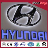 China Acrylic Vacuum Formed Embassing Letter Sign With LED Lights on sale