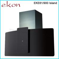 China 90cm Black Glass Island Kitchen Cooker Hood on sale