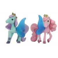 Buy Unique Pink Plastic Figures Toys , Flocked Pony With Butterfly Wing at wholesale prices