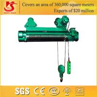 Quality Single and double speed general application lifting electric wire rope hoist for sale