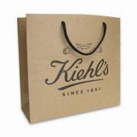 China kraft paper shopping bag recycled kraft paper bag any size any printing on sale