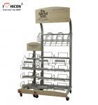 Quality Retail Journal Literature Newspaper Display Rack Floor Standing Metal Display Stand for sale