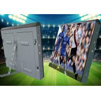 Quality iron soft mask Cabinet  advertising Outdoor waterproof P10 football stadium perimeter led screen for sale