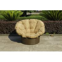 Quality Home Garden Wicker Lazy Chair With Powder Coated Aluminium Frame for sale