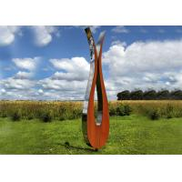 Quality Outdoor Modern Corten and Stainless Steel Sculpture Abstract Style for sale