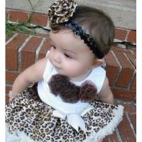 Quality Fashion leopard virgin baby clothes suit summer fair maiden outfit for sale