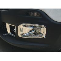 Quality JEEP Renegade 2016 Chromed Front Fog Lamp Cover and Rear Bumper light Molding for sale