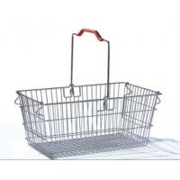 Quality Single Handle Stainless Steel Shopping Baskets Rust Preventing Custom for sale
