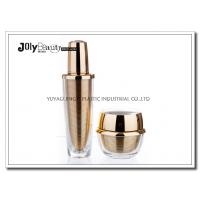 Quality 60 ML Capacity Plastic Lotion Jars With Bottle Inside Gold Plating Outside Transparent for sale