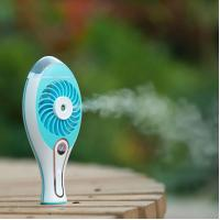 Quality Novelty gifts USB charge handheld mist cooling air fan fog mist fan cooler for sale