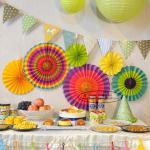 Quality Multicolor Paper Flower Fan Suit Inside Or Outside Door Decorations for sale