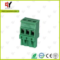 Quality Plug Type Connector Terminal Block Wire Range 28 - 12 AWG , Plug in Terminal Block for sale