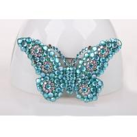 Quality Blue Color Costume Jewelry Jewelry Pins & Brooches , Diamond Butterfly Pins And Brooches for sale