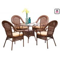 4 seater outdoor restaurant tables with rattan metal frame d80 h72 cm - Restaurant Tables For Sale