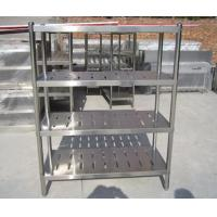 Quality Customized Commercial Restarant / Supermarket Stainless Steel Display Racks Light duty structure for sale