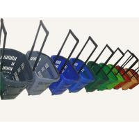 Quality Multiple Plastic Rolling Trolley Shopping Basket With Wheels For Grocery / Supermarket for sale
