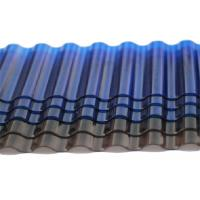 Quality Tinted Corrugated Plastic Sheets , Solar Polycarbonate Corrugated Roof Panel for sale
