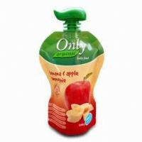 Buy Apple Juice Spout Pouch Packaging 50 Microns -200 Microns With CMYK Printing at wholesale prices