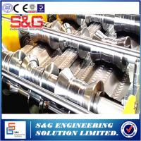 China Customised Width Metal Stud Roll Forming Machine , Run Out Table Sheet Metal Forming Equipment on sale