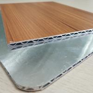 Quality Wooden Marble Series PVDF Aluminum Composite Panel , Aluminium Core Panel for sale