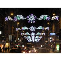 Quality high quality Christmas Led street motif light with star across street decoration for sale