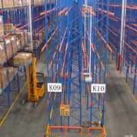China Double Deep Warehouse Pallet Racking Systems / Steel Pallet Shelf on sale