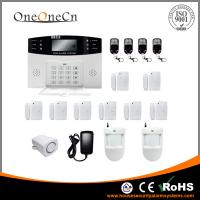 China Quad Band PIR GSM Burglar Alarm System Apartment Alarm Systems With Voice LCD on sale
