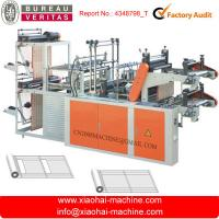 China Rolling Perforate Garbage Bag Plastic Flat Bag Making Machine With Folding Frame on sale