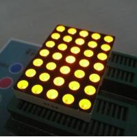 Quality 5mm 5x7 Dot Matrix Led Display Ultra Bright Yellow Widely Used In Moving Signs for sale