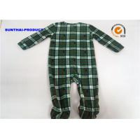 Quality Grid AOP Baby Pram Suit YKK Zipper Closure 100% Polyester Micro Fleece Coverall for sale