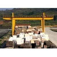 Quality Durable Double Girder Gantry Crane 40 Ton Rail Low Maintenance Marble Cabin for sale