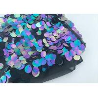 China Multi 18mm Large Colorful Sequin Fabric Designing Clothing Iridescent Color on sale