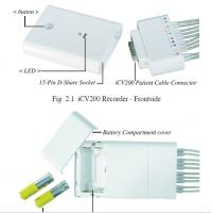 China 12 Lead Bluetooth 2*AA Battery Mini Ecg Machine on sale