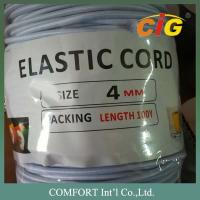 Quality Garments Accessories 3mm , 4mm Thickness White And Black Elastic Tape For Package Tire for sale