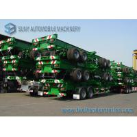 China Skeleton 30 Ton Two Axle Flatbed Semi Trailer 40 Foot Flatbed Trailer on sale