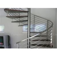 Prefabricated Spiral Staircase Timber Treads Stair For Indoor Images    Buildingrailing